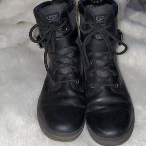 UGG  Size 9 Black ⚫ Women Combat Motor Boots